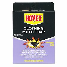 Hovex CLOTHING MOTH TRAP, Non-Toxic Alternative to Pesticides, 1 Trap & 1 Lure