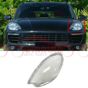 For Porsche Macan 2015-2018 Left Driving Side Clear Headlight Cover With Glue