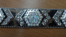 NOCONA Belt Leopard Genuine Leather With Rhinestones Multi-color Sz M  N34942196