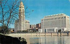 Columbus Ohio Civic Center Scioto River LeVeque-Lincoln Tower Buildings Postcard