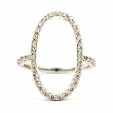 Graduation Round White Gold Fine Diamond Rings