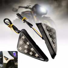 Motorcycle Smoke Triangle Flush Mount Turn Signal Indicators Amber 9 LED Light