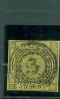 Baden,  Wertziffer im Quadrat Nr.2 Gestempelt