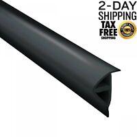 25 ft. Black P Profile Vinyl Marine Dock Edging Boat Corner Bumper Protector New