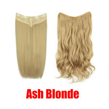 150g 22''26'' Straight Curly Hair Extensions 3/4 Full Head Clip In HairPiece YJ