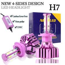 4Side H7 LED Headlight Kit For High Low beam Bulb 6000K 72W 16000LM  Canbus EMC