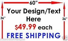 """Design Your Own 36"""" x 60"""" Vinyl Banner Indoor Outdoor Sign FREE SHIPPING"""