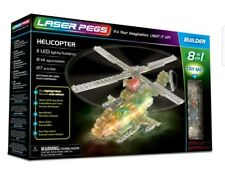 Laser Pegs Helicopter 8‑in‑1 Building Set - Multicolor (81012)Ships from U.S.