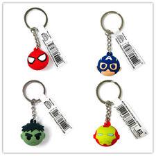 Marvel Spider Captain America Iron Man Hulk Icon Ball Keyring  Keychain Set Of 4
