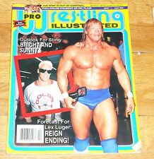 1992 Pro Wrestling Illustrated PWI Magazine Ric Flair Lex Luger WWF WWE Sting