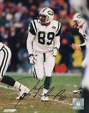 DEDRIC WARD Autographed SIGNED #89 NY JETS 8X10 FOOTBALL Photo wCOA