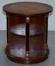 RARE ANTIQUE SWEDISH BIEDERMEIER BIRCH ROUND REVOLVING LIBRARY STUDY BOOKCASE