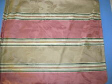 New Pair Handcrafted 16x16 Rose, Sage & Tan Jacquard Striped Pillows