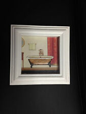 Claw Foot Old Fashioned Bath Tub Bathroom Framed Wall Art Decor