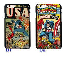 Vintage Marvel Comics Captain America Case Cover For iphone 6 6S 7 Plus 5S SE S7