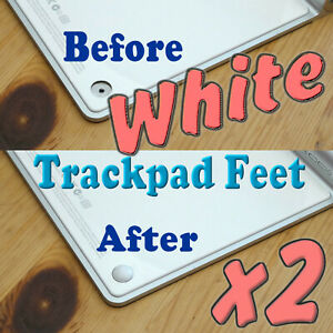 For Apple Magic Trackpad Wireless Touchpad 2x WHITE Replacement Foot Feet Rubber