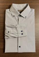 Peter Millar Mens Long Sleeve Summer Comfort Button Down Blue Stripped M