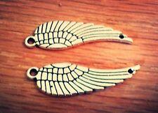 Angel Wing Connectors Charms Pendants Antiqued Silver Bracelet Connectors 10pc