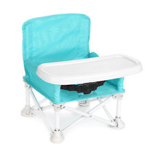 Travel Booster Seat w/Tray Play Table for Baby Toddlers Infant Eating Chair Fold