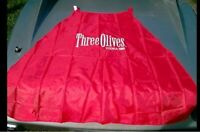 Three Olives Vodka Red Apron Brand New SEALED PACKAGE promo PROMOTIONAL alcohol