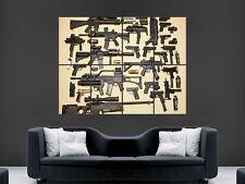 Francotirador Pistolas armas automáticas muro de arte cartel impresión de foto Grande