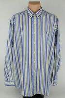 Ralph Lauren Mens XL Blake Purple/Yellow Striped Button Down Casual Dress Shirt