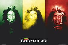 BOB MARLEY - FLAG SMOKING - MUSIC POSTER - 24x36 - WEED MARIJUANA POT 8701