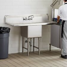 """54"""" Stainless Steel One Compartment Commercial Nsf Restaurant Kitchen Sink"""
