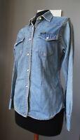 Camicia denim jeans donna original LEE shirt overshirt woman taglia S M 40 42
