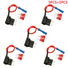 5 Set Car Add-a-circuit Fuse TAP Adapter Standard ATO ATC Auto Blade Fuse Holder