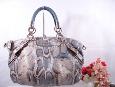 Stunning!  NEW COACH Madison Sophia Python LEATHER Purse Shoulder Bag 16354 $598