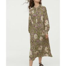 H&M William Morris And Co Floral Midi Shirt Dress Size 2/Small