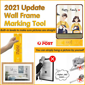 Picture Hanging tool Tools Frame Hanger Easy Wall Photo Hanging Level Ruler AU