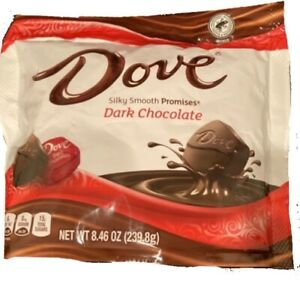 (PACK OF 3) DOVE Silky Smooth PROMISES Dark Chocolate Candy, 8.46 Oz Bag - New