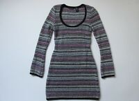 Moda International Victoria''s Secret Metallic Stripe Knit Sweater Dress S