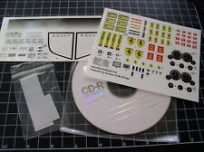 Pocher 1/8 Ferrari F40 Upgrade Enhanced Decals System W/ CD NEW
