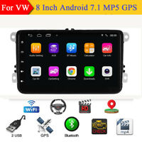 """8 """"Android 7.1 Musik-Video Multimedia Player GPS Mirror Link 3G 4G WIFI Für VW"""