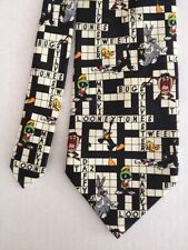 Looney Tunes Characters Crossword Puzzle Necktie by Looney Tunes Mania #16157