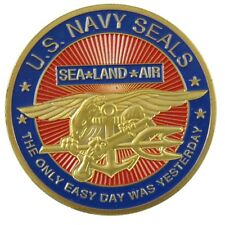 U.S Navy SEALS 24KT GP Challenge Coin 1000#
