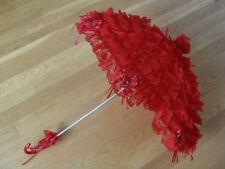 Gothic Lolita Layer Lace Umbrella Parasol EGL Punk Victorian Cosplay Red Rose