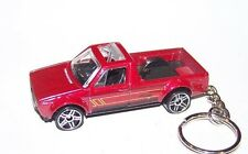 CUSTOM MADE..VOLKSWAGEN CADDY (BURGUNDY MET./BLACK)  KEYCHAIN..GREAT GIFT!