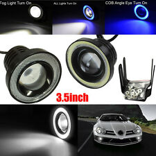 3.5 Inch 6000K Xenon Car Fog Light COB LED Projector Halo Ring DRL Driving Bulbs