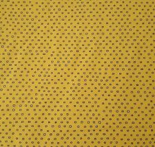 Pixie by Ink & Arrow BTY Tiny Irregular Square Polka Dot Blender Black Yellow