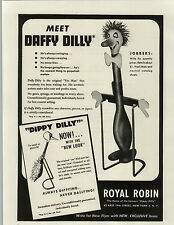 1948 PAPER AD Royal Robin Co Daffy Dilly Dippy Dilly Bird Yes Man Bird Toy Play