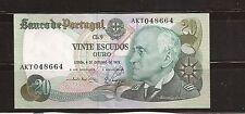 Billete portugués antiguo