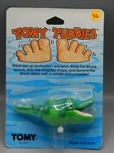 1983 original vintage TOMY TUBBIES windup ALLIGATOR WIND UP animal MOC Sealed !!