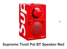 🔥 Supreme Tivoli Pal BT Red Speaker - READY TO SHIP- sold out! WITH STICKER 🔥