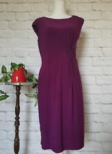 Chaps by Ralph Lauren women large sleeveless ruche purple velvet maxi dress