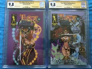 Tarot Witch of the Black Rose #1 set - Broadsword - CGC SS 9.8 -Signed by Balent