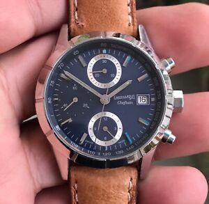 EBERHARD CHEFTAIN 31048 chronographe suisse chronograph working condition,38.5mm
